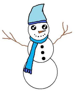 رسوم الأطفال - رجل الثلج - معرض ساندروز للصور
