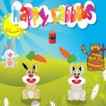 أرانب سعيدة