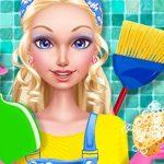 أزياء تنظيف بيت الدمية