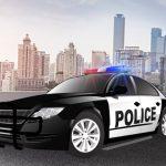 قيادة سيارة الشرطة