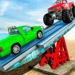 شاهد تحدي قيادة توازن السيارة منحدر