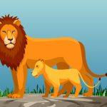 الحيوانات البرية وأطفالها